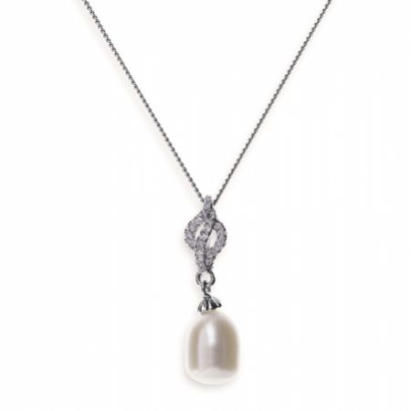 Ivory and Co Lisbon Pearl Pendant Necklace