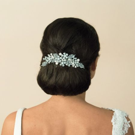 Ivory and Co Madrid Crystal Leaves and Pearl Bridal Hair Comb