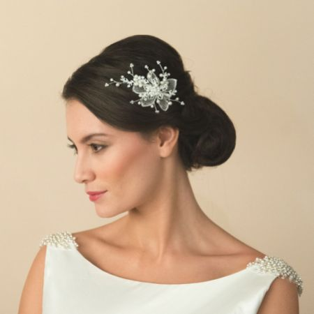 Ivory and Co Magnolia Floral Wedding Hair Clip