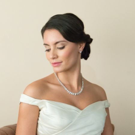 Ivory and Co Manhattan Cubic Zirconia Wedding Necklace