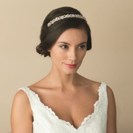 Ivory and Co Marielle Gold Crystal Embellished Bridal Headband