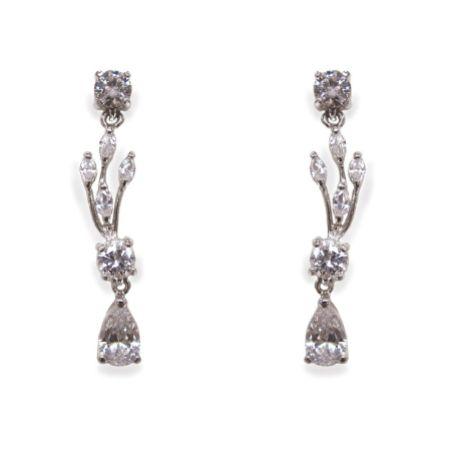 Ivory and Co Mayfair Vintage Inspired Crystal Drop Wedding Earrings