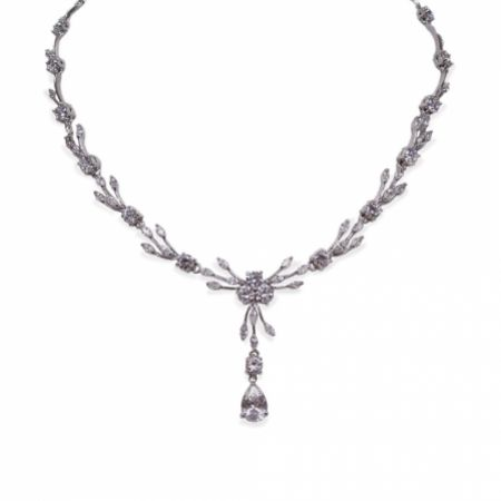 Ivory and Co Mayfair Vintage Inspired Crystal Wedding Necklace