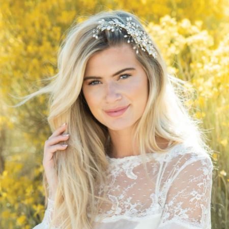 Ivory and Co Midsummer Dream Gold Enamelled Floral Headpiece