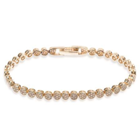 Ivory and Co Modena Gold Crystal Embellished Wedding Bracelet