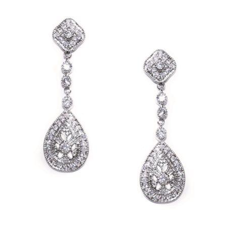 Ivory and Co Moonstruck Crystal Wedding Earrings