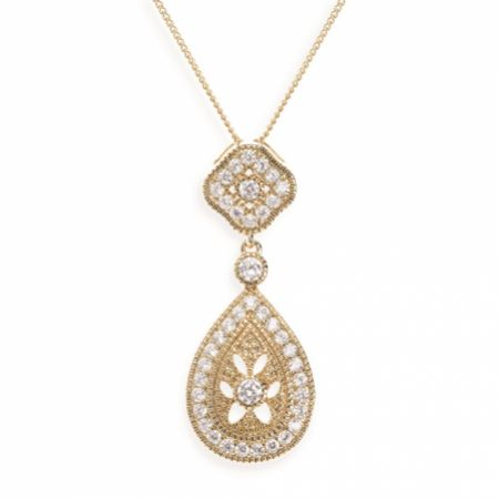 Ivory and Co Moonstruck Gold Crystal Pendant Necklace