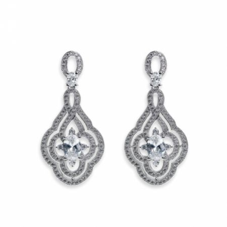 Ivory and Co Park Avenue Deco Inspired Crystal Wedding Earrings