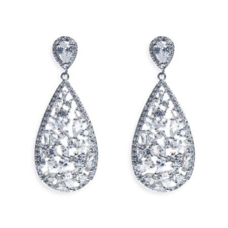 Ivory and Co Pasadena Crystal Teardrop Earrings