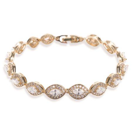 Ivory and Co Promise Cubic Zirconia Wedding Bracelet (Gold)