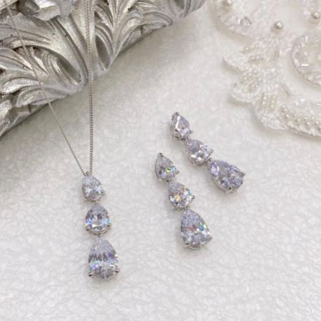 Ivory and Co Purity Crystal Bridal Jewellery Set