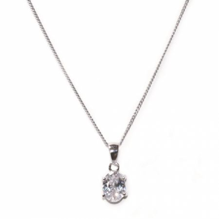 Ivory and Co Rapture Cubic Zirconia Pendant Necklace