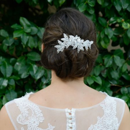 Ivory and Co Saskia Crystal Embellished Floral Bridal Hair Comb