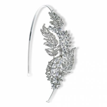 Ivory and Co Sephora Crystal Leaves Wedding Headpiece