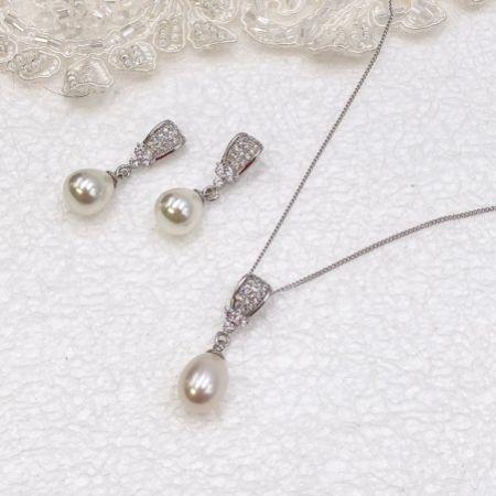 Ivory and Co Serrano Pearl Bridal Jewellery Set
