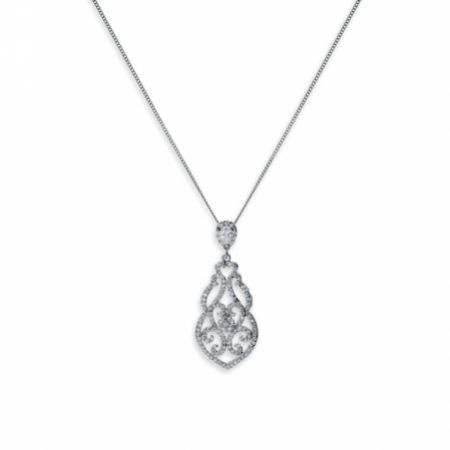 Ivory and Co Sorrento Vintage Crystal Pendant Necklace