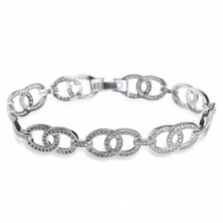 Ivory and Co Steinway Crystal Embellished Chain Bracelet