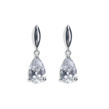 Ivory and Co Vanderbilt Teardrop Crystal Wedding Earrings