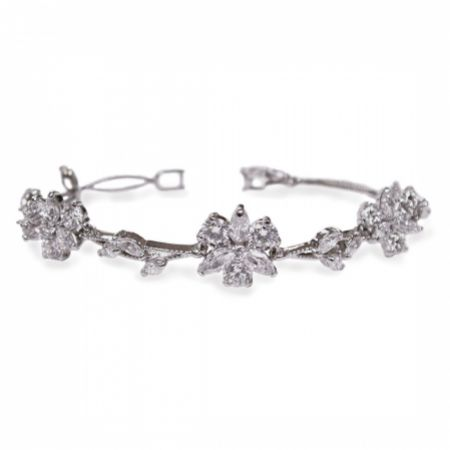 Ivory and Co Waterlily Crystal Wedding Bracelet
