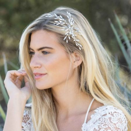 Ivory and Co Wintersweet Crystal Spray Wedding Hair Clip