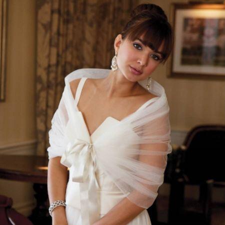 Joyce Jackson Capri Diamante Tulle Bridal Wrap