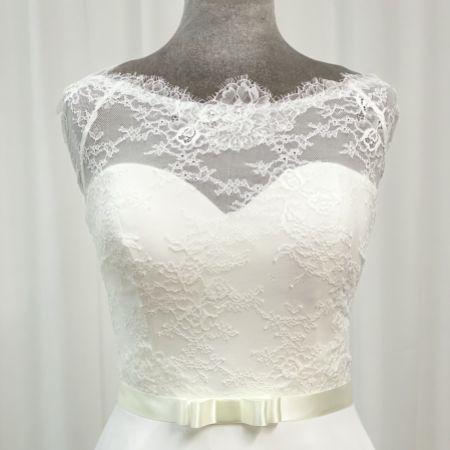 Joyce Jackson Mariposa Ivory Satin Ribbon Bow Dress Belt