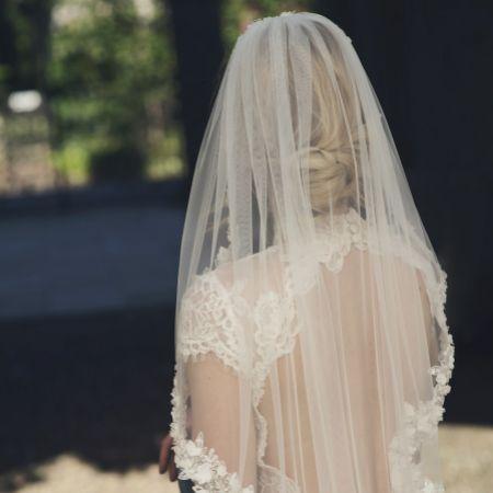 Joyce Jackson Soho Single Tier Floral Waist Length Veil