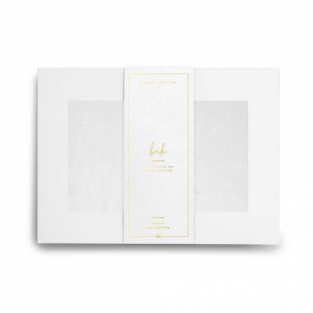 Katie Loxton 'Bride' Wrapped Up In Love Boxed White Silky Scarf