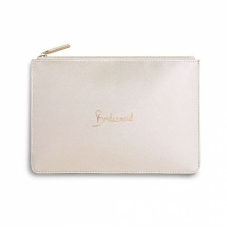 Katie Loxton 'Bridesmaid' Pearlescent White Perfect Pouch