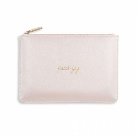 Katie Loxton 'Fiance-Yay' Pearlescent White Perfect Pouch