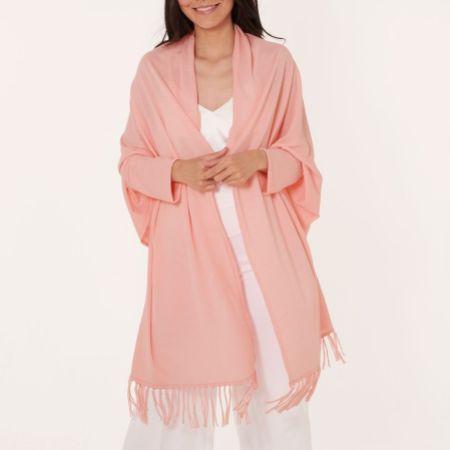 Katie Loxton Katie Kape Pale Pink Tassel Kimono