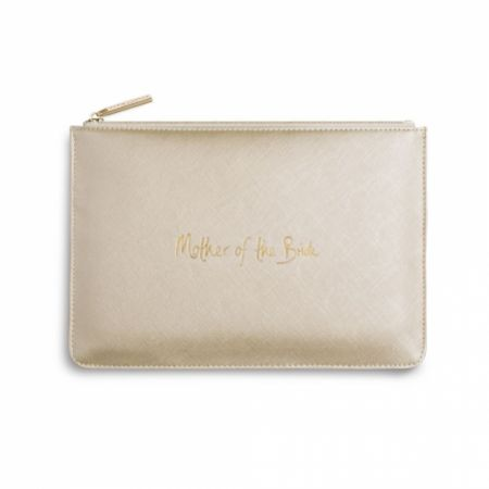 Katie Loxton 'Mother of the Bride' Metallic Gold Perfect Pouch