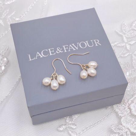 Kelani Freshwater Pearl Cluster Earrings