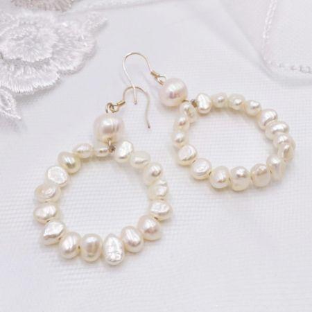 Kelara Freshwater Pearl Hoop Earrings