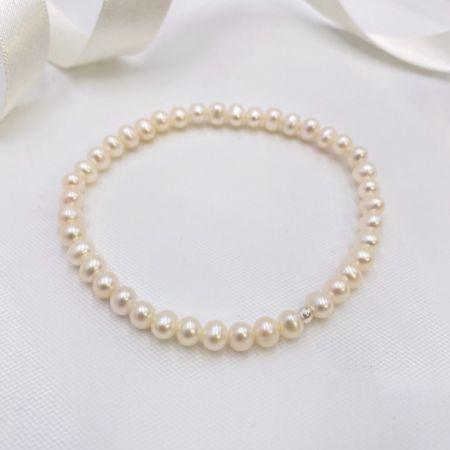 Laisani Simple Freshwater Pearl Wedding Bracelet