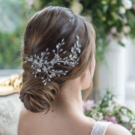 Liliana Delicate Crystal Spray Wedding Hair Vine