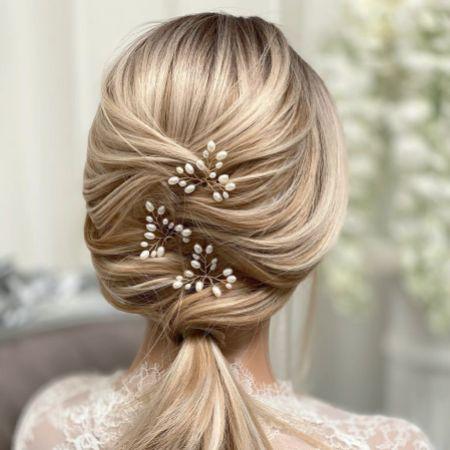 Oriana Freshwater Pearl Wedding Hair Pin (Gold)