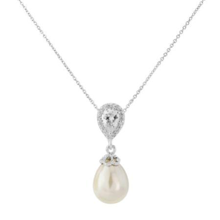 Paloma Teardrop Pearl Pendant Necklace