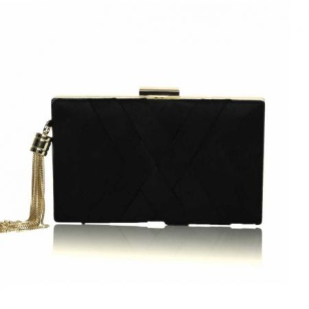 Perfect Bridal Anise Black Suede Clutch Bag