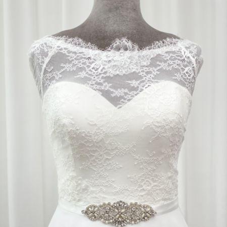 Perfect Bridal Antonia Crystal and Pearl Wedding Dress Belt
