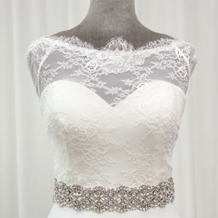 Perfect Bridal Brigitte Statement Crystal and Pearl Dress Belt