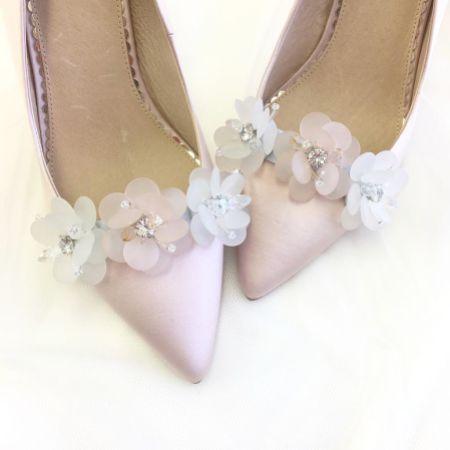 Perfect Bridal Damson Crystal Blossom Shoe Clips