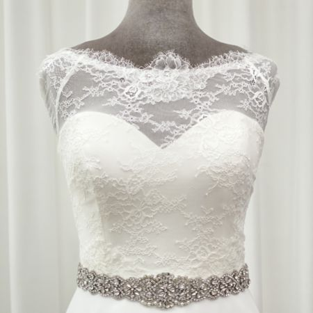 Perfect Bridal Emmy Vintage Inspired Crystal and Beaded Dress Belt
