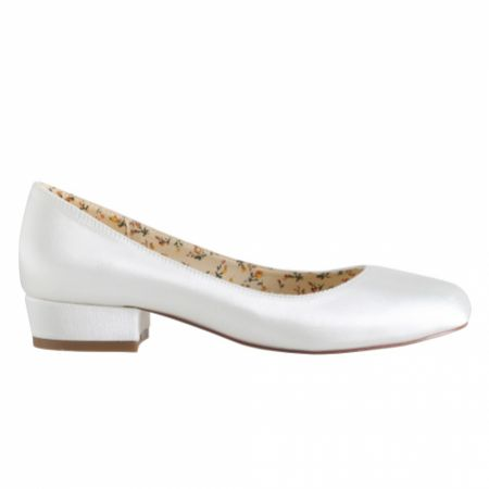 Perfect Bridal Fern Dyeable Ivory Satin Ballerina Shoes