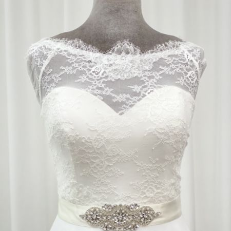 Perfect Bridal Isla Floral Crystal, Pearl and Beaded Dress Belt