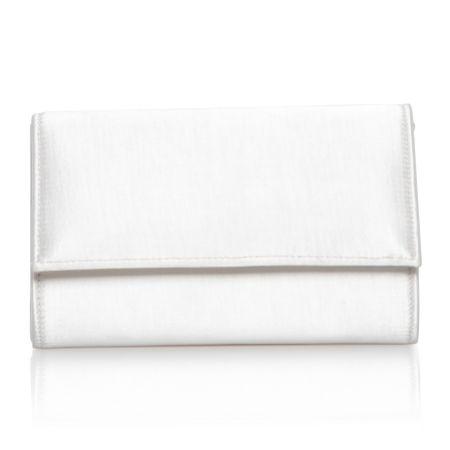Perfect Bridal Lola Dyeable Ivory Satin Clutch Bag