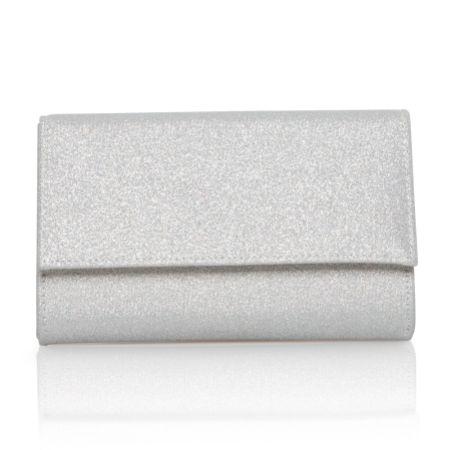 Perfect Bridal Lola Silver Shimmer Clutch Bag