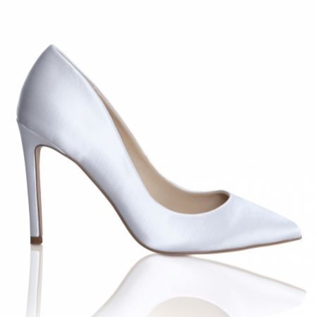 Perfect Bridal Meghan Dyeable Ivory Satin Pointed Court Shoes