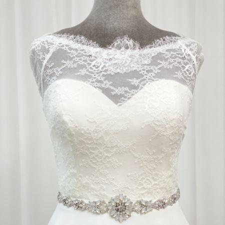Perfect Bridal Sadie Floral Opal Crystal Wedding Dress Belt