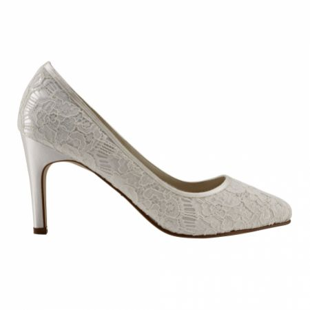 Rainbow Club Alexis Dyeable Ivory Lace Wedding Court Shoes